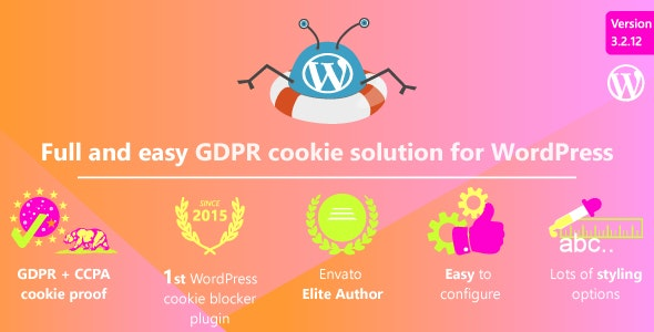 Complete GDPR / AVG / CCPA Cookie Compliance WordPress plugin - WeePie Cookie Allow - CodeCanyon Item for Sale