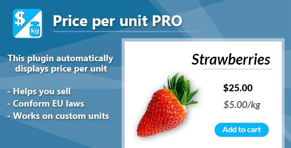 Price per unit PRO