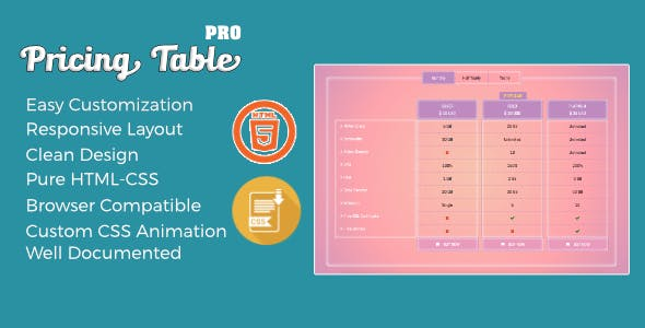 Pricing Table Pro