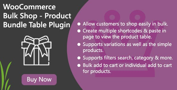 WooCommerce Bulk Shop - Product Bundle Table Plugin
