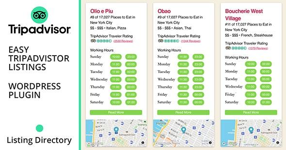 Easy TripAdvisor Listings - CodeCanyon Item for Sale