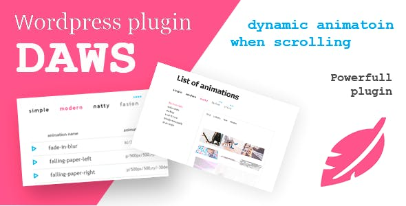 DAWS-WP - Dinamic Animation When Scrolling wordpress plugin