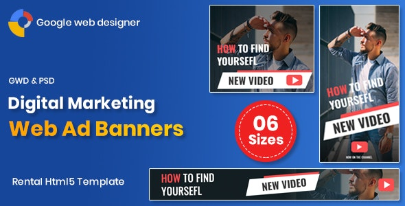 Digital Marketting Banners GWD - CodeCanyon Item for Sale