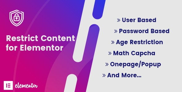 Restrict Content for Elementor - CodeCanyon Item for Sale