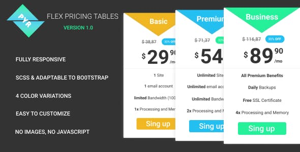 PYR - Responsive Pricing Table