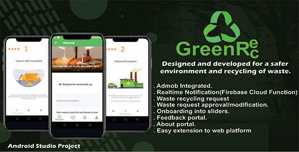 GreenRec Waste Management App with Admob - Complete App - CodeCanyon Item for Sale