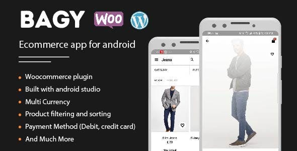 Bagy - Android native ecommerce app with wordpress backend