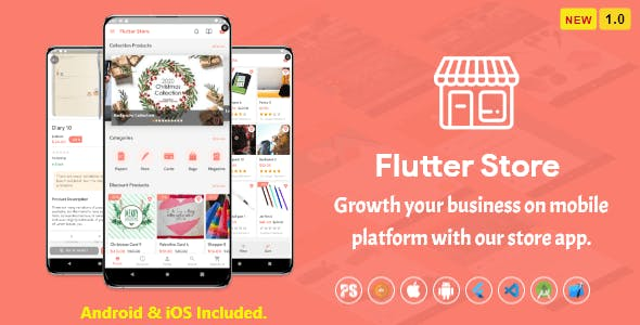 Flutter Store ( Ecommerce Mobile App for iOS & Android with same backend ) 1.0