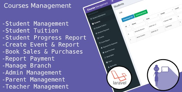 Courses Management and Administration