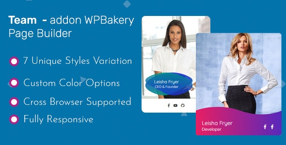 Team - Addon WPBakery Page Builder (Formerly Visual Composer) - CodeCanyon Item for Sale