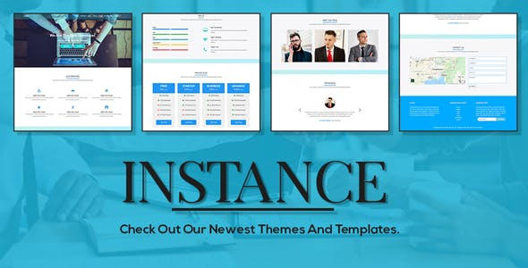 Instance one page responsive HTML template