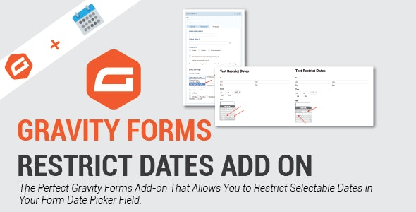 Gravity Forms Restrict Dates Add-on - CodeCanyon Item for Sale