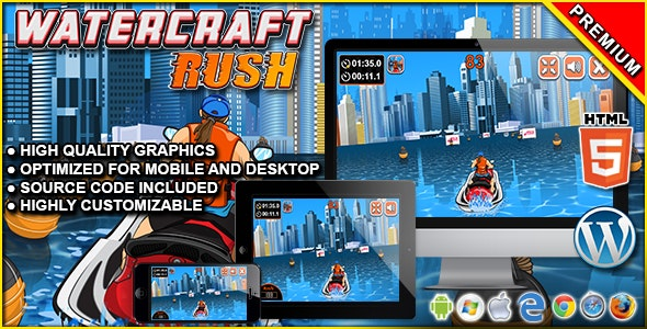 Watercraft Rush - HTML5 Racing Game - CodeCanyon Item for Sale