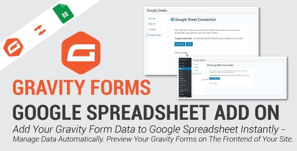 Google Spread Sheet In Gravity Forms
