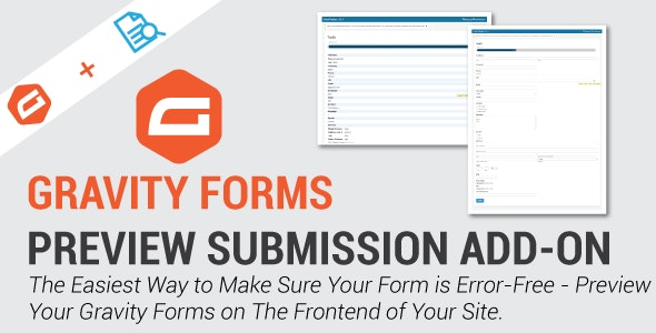 Gravity Forms Preview Submission Add-on - CodeCanyon Item for Sale
