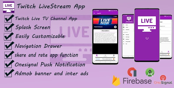 Live TV Streaming App For Twitch - CodeCanyon Item for Sale