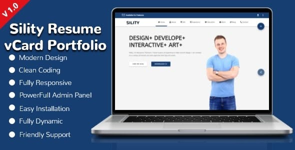 Sility Resume / CV / vCard / Portfolio CMS