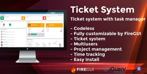 Tickets and Tasks Manager for FireGUI Builder - CodeCanyon Item for Sale