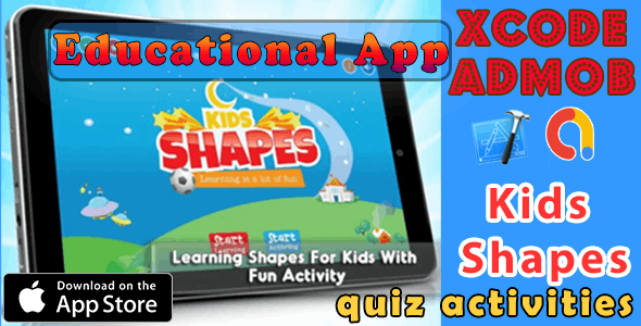 Learning Shapes for Kids quiz activities - iOS11 and Swift 3