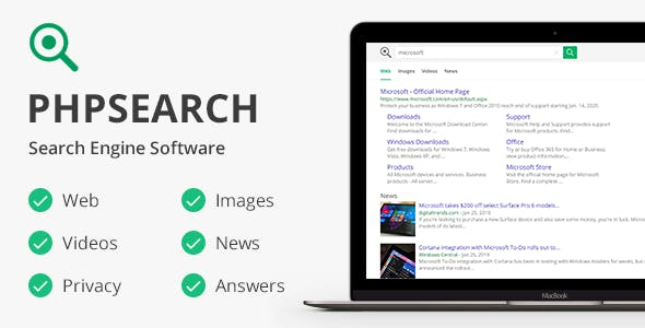phpSearch - Search Engine Platform