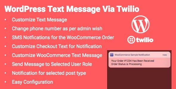 WordPress Twilio SMS Integration