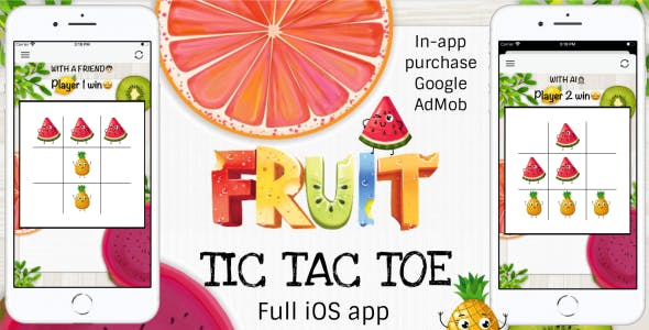 'Fruit tic tac toe' - Full iOS Application