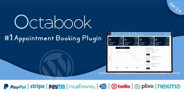 Octabook appointment scheduling software system for wordpress - CodeCanyon Item for Sale