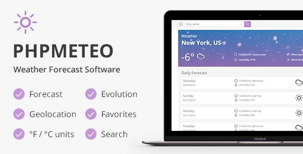 phpMeteo - Weather Forecast Platform - CodeCanyon Item for Sale