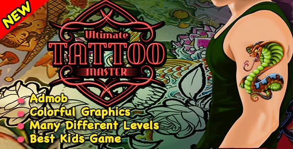 Best Tattoo Master Game For Kids + Ready For Publish + Android Studio