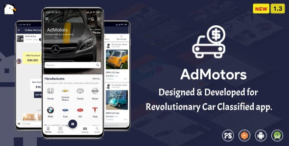 AdMotors For Car Classified BuySell Android App (1.3)