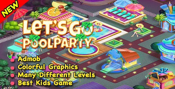 Best Pool Party Game For Kids + Ready For Publish + Android Studio