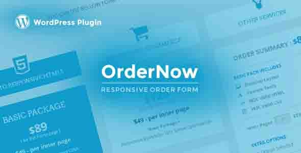 OrderNow - Responsive Order Form WordPress Plugin - CodeCanyon Item for Sale