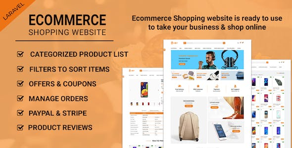 Ecommerce Shopping Website - Take Your Shop Online With Laravel