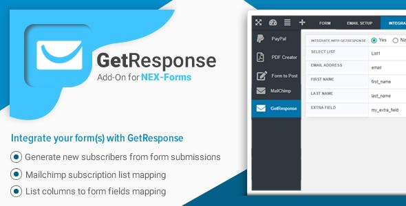 GetResponse for NEX-Forms