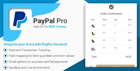 PayPal Pro for NEX-Forms - CodeCanyon Item for Sale