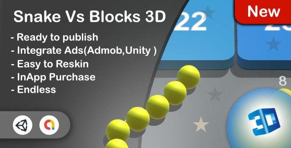 Snake Vs Block 3D - CodeCanyon Item for Sale