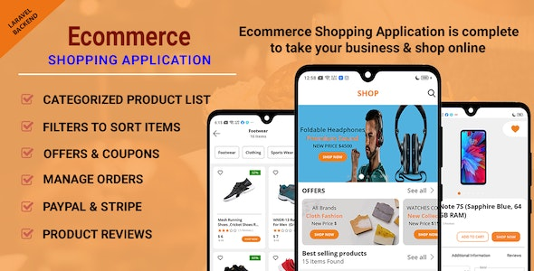 Ecommerce Shopping App - Take Your Shop Online With Android Application - CodeCanyon Item for Sale