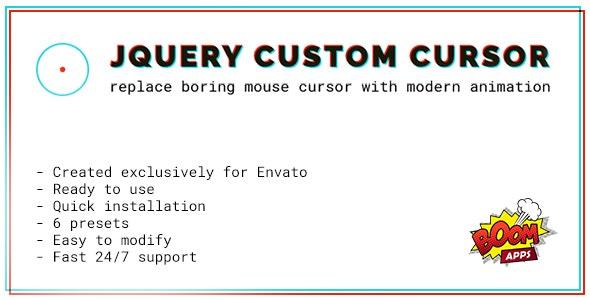 jQuery Custom Cursor - CodeCanyon Item for Sale