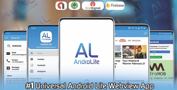 AndroLite - Easy Configurable Android WebView App Template - CodeCanyon Item for Sale