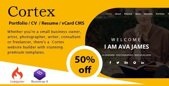 Cortex Portfolio / CV / Resume / vCard CMS