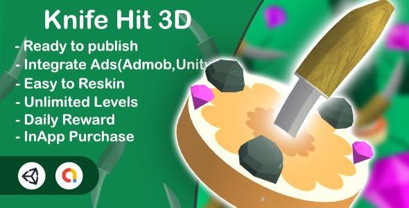 3D Knife Hit (Unity+Admob+Android+iOS)