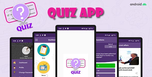 Quiz app ( Quiz + news + chat )