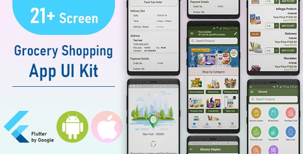 Flutter Grocery and Supermarket UI KIT - CodeCanyon Item for Sale