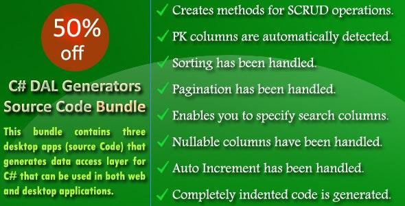 C# DAL Generators Source Code Bundle - CodeCanyon Item for Sale