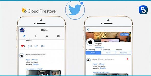 TwitterClone - Ionic V.4 & Firebase