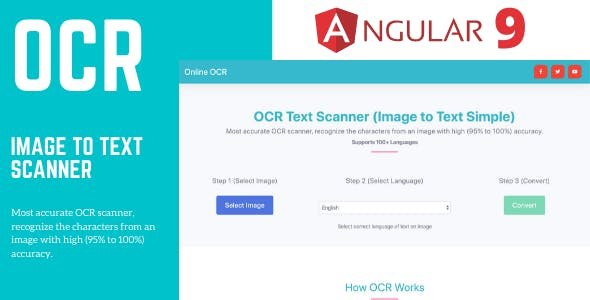OCR (Image to Text Converter) Angular 9 Full Application