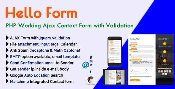 Hello Form - PHP Working Ajax Contact Form with Validation - CodeCanyon Item for Sale