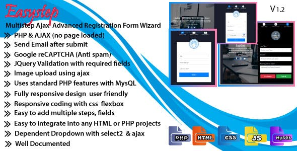 EasyStep - Multistep Ajax Advanced Registration Form Wizard