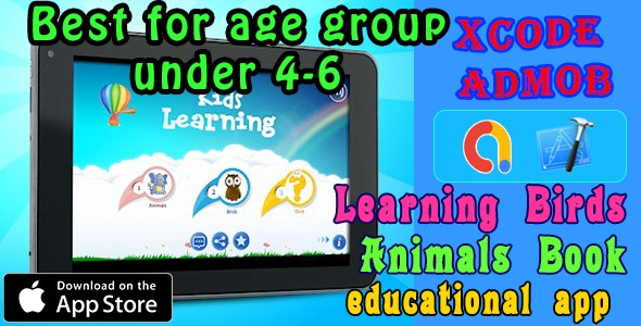 Learning Birds - Animals Book iOS11 and Swift 3 Toddlers App - CodeCanyon Item for Sale