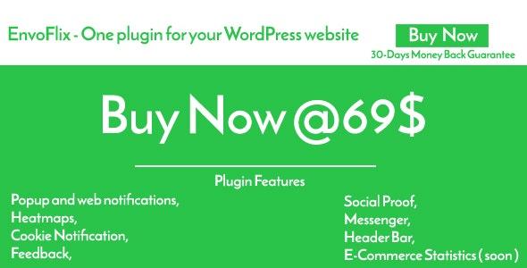 EnvoFlix Plugin - HeatMaps, Popup Notifications, Social Proof, Messenger, Feedback, Cookie... - CodeCanyon Item for Sale